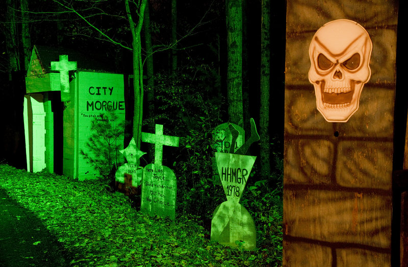 "A cemetery is the last ""haunt"" on the Original Haunted Hayride in Scarborough."