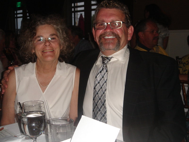 Sibyl and Jeffrey Campbell celebrate their 20th wedding anniversary in July 2009 at The Landing at Pine Point in Scarborough. He died of cancer Wednesday.