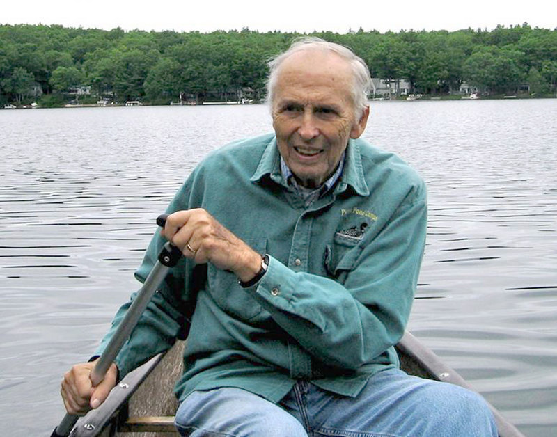 """Paul Fournier, seen in a canoe, writes about his life of outdoor adventures in a new book, """"Tales from Misery Ridge,"""" from Islandport Press."""