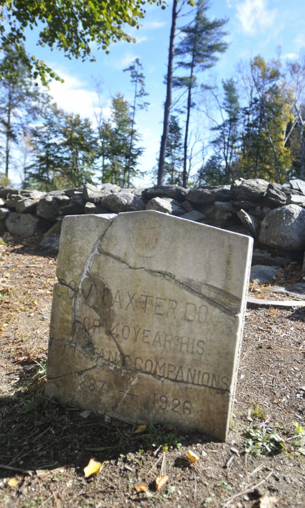 Percival Baxter's pet cemetery on Mackworth Island.