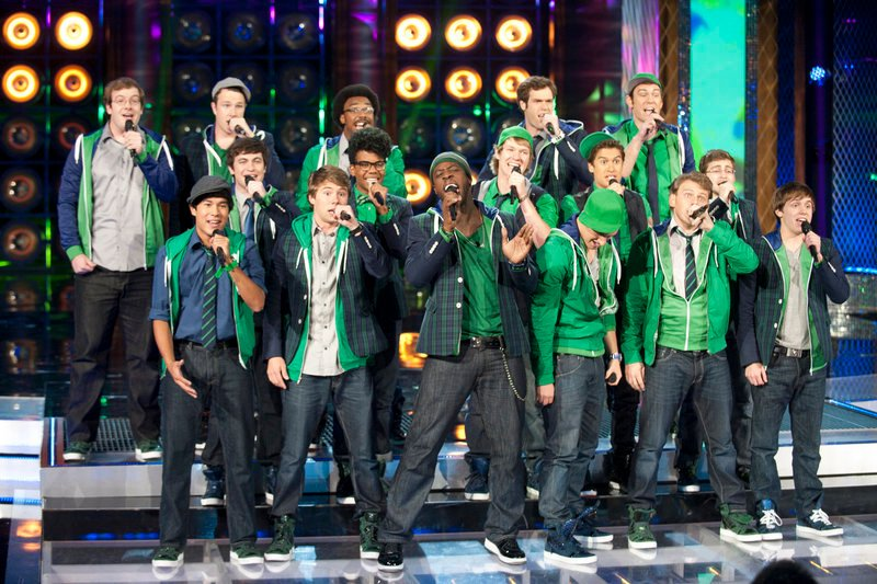 "Michael Odokara-Okigbo of Portland performs on NBC's ''The Sing-Off"" Monday night with The Dartmouth Aires."