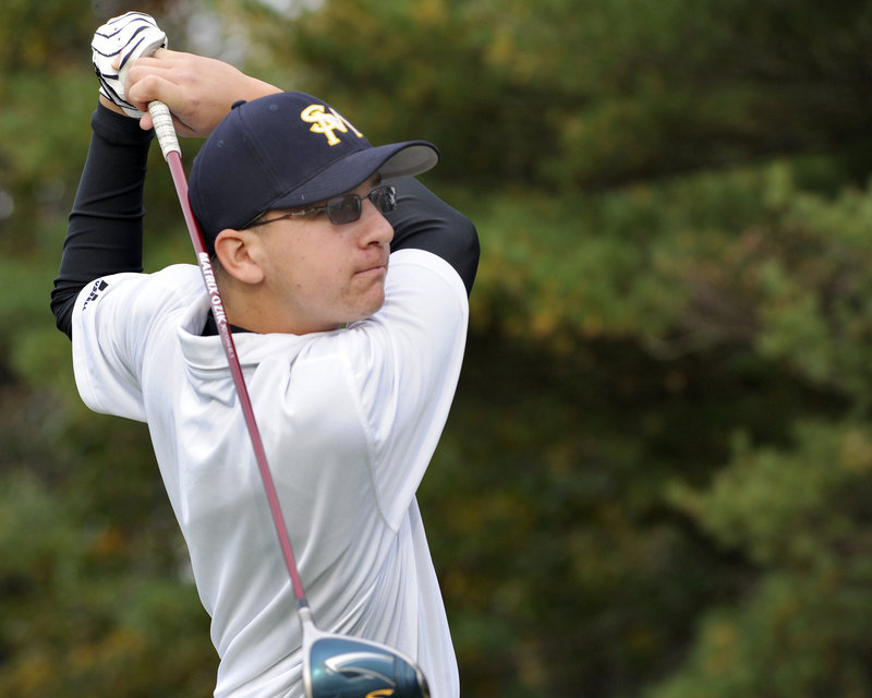 Tommy Stirling refined his swing under the eye of Gorham Country Club pro Rick Altham and recently won the USCAA national title by four strokes.