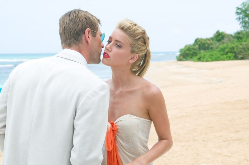 Aaron Eckhart and Amber Heard in