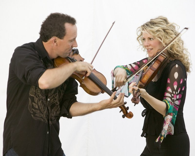 Natalie MacMaster and Donnell Leahy are in Brownfield on Nov. 3.