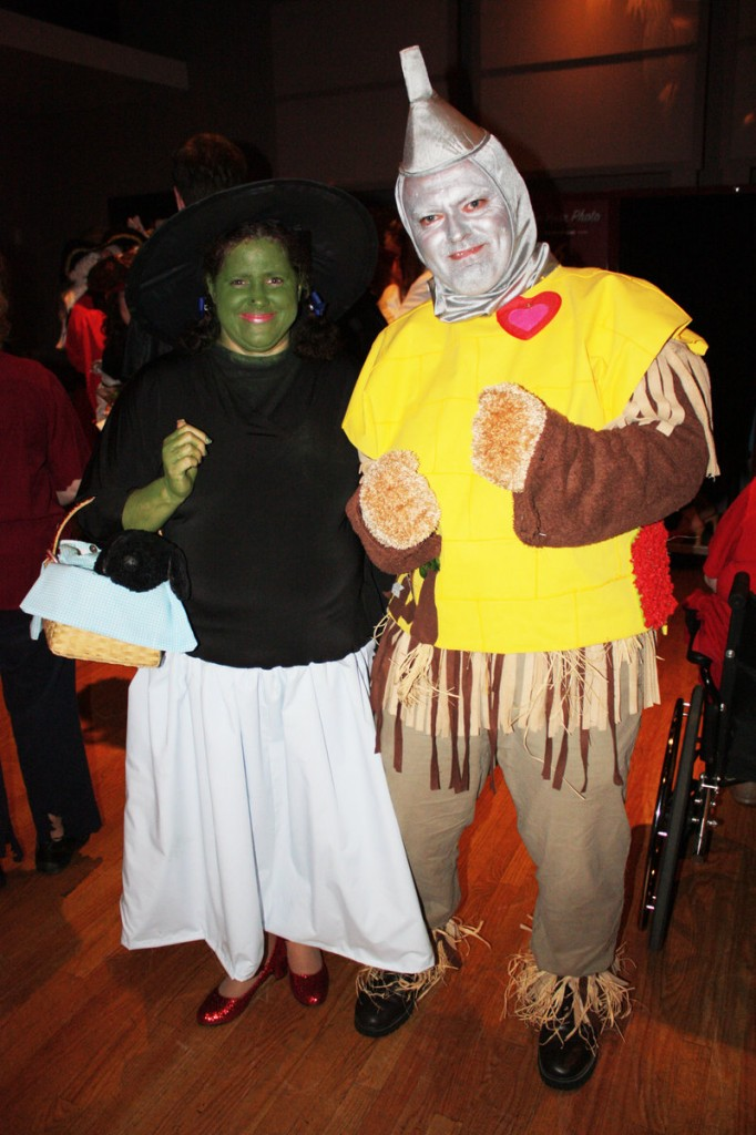 "Most Creative Use of Goodwill Finds winners Megan Wallace and Brian Wallace, dressed as a combination of the main characters from ""The Wizard of Oz""."