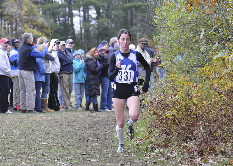 Abbey Leonardi of Kennebunk capped her awe-inspiring career by not just winning her fourth straight Class A title, but finishing more than a half-minute ahead of anyone else at Cumberland.