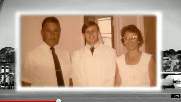 This image is from an ad for Portland mayoral candidate Michael Brennan in which he refers to his parents.