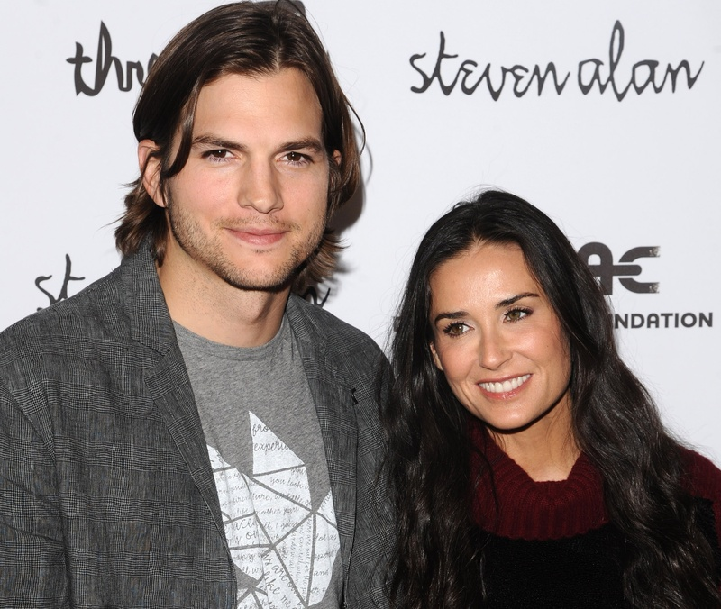 "Ashton Kutcher and Demi Moore attend the ""Real Men Don't Buy Girls"" launch party to raise awareness about child sex slavery in New York earlier this year."