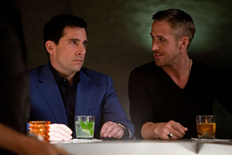 "Steve Carell, left, and Ryan Gosling in ""Crazy, Stupid, Love."""