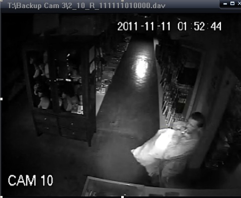 Security image from market burglary