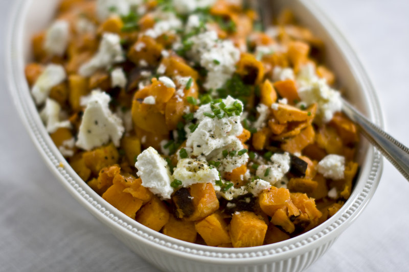 In the recipe for sweet potatoes with lemon-lime vinaigrette, a splash of balsamic vinegar helps balance the sweetness with a hint of acidity.
