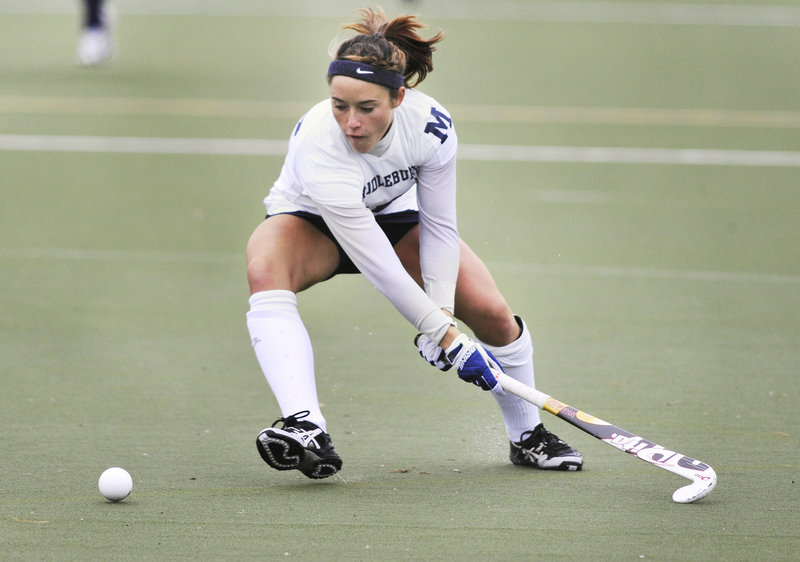 Hannah Clarke has emerged as one of Middlebury College s best all-around players in terms of fitness, strength, agility, according to her coach.