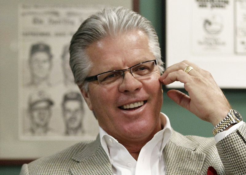 Pete Mackanin, a Phillies bench coach, is the first candidate to interview for Boston's vacant managerial position.