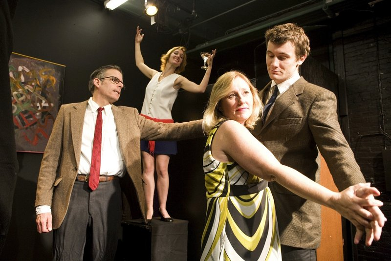 From left, Paul Haley as George, April Singley as Honey, Kerry Rasor as Martha, and Nicholas Schroeder as Nick.