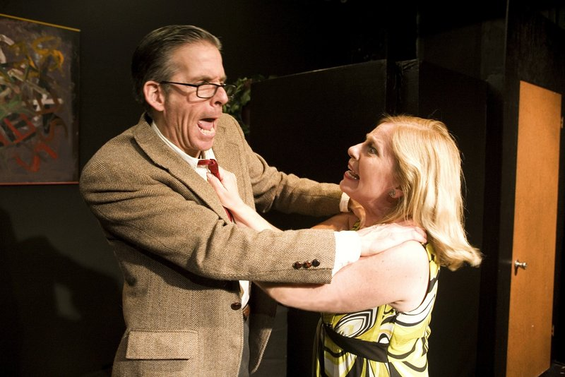Things get ugly between George and Martha, played by Paul Haley and Kerry Rasor.