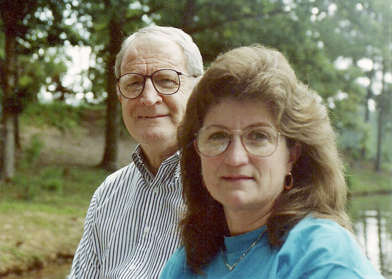 Jan Barrett poses with her father, Thomas Plourde, in the 1980s. Plourde, who retired from the Army as a lieutenant colonel, died in 1992 at the age of 71.
