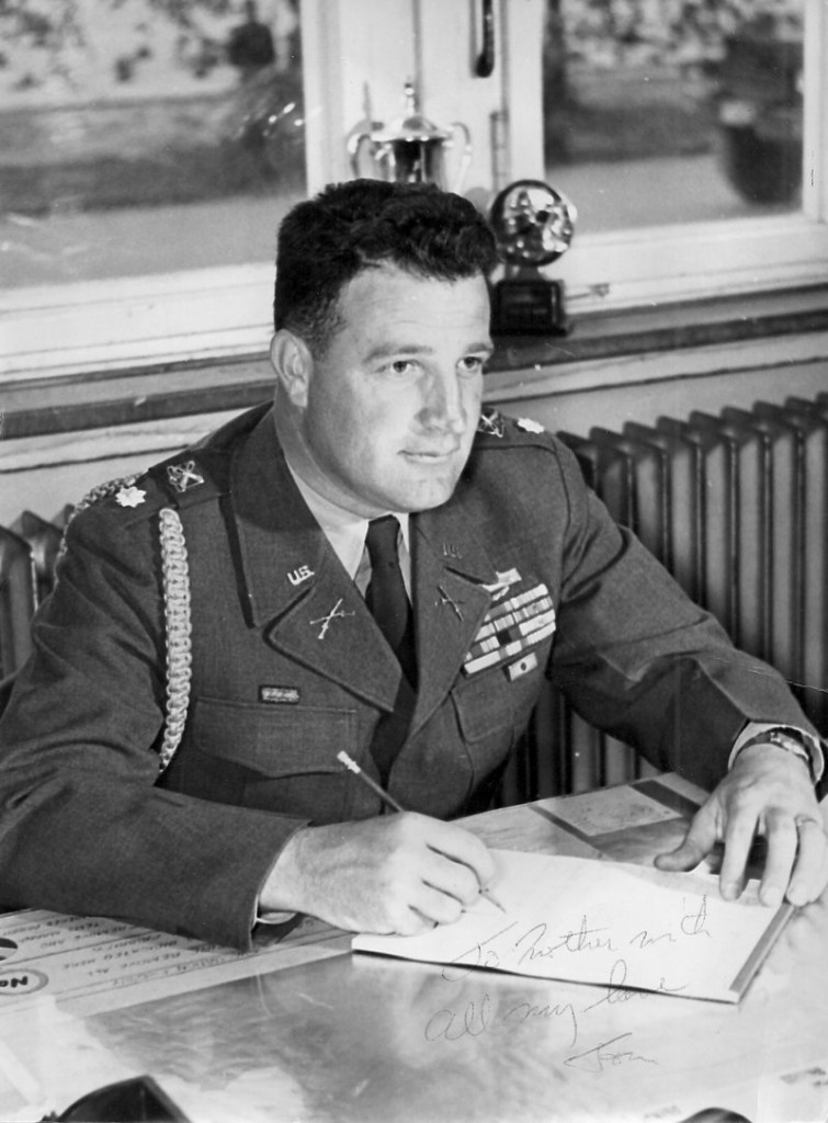 Lt. Thomas Plourde during his military service.