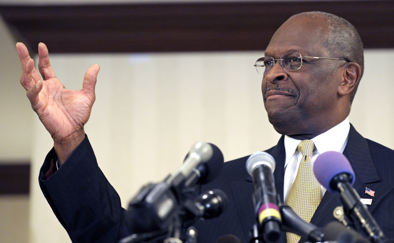 Republican presidential candidate Herman Cain speaks after meeting with doctors attending the Docs4PatientCare conference in Alexandria, Va., on Wednesday.
