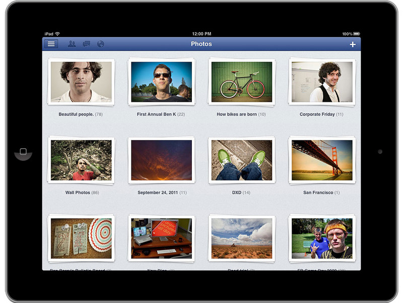 A Facebook application is shown on an iPad screen. The CIA follows up to 5 million tweets a day, as well as poring over Facebook, newspapers, TV news channels, radio stations and Internet chat rooms overseas.