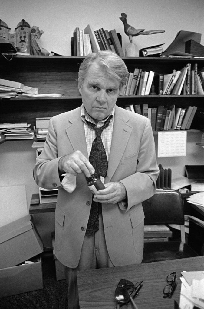 "CBS News producer and correspondent Andy Rooney is shown in his New York office in 1978, the same year he launched his ""60 Minutes"" commentary segment."