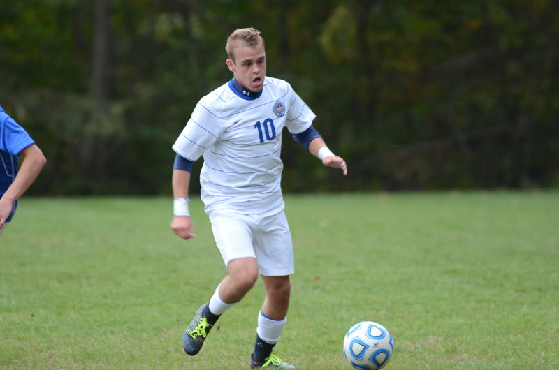Three years after he graduated from Westbrook High, Zach Johnson has found a home at St. Joseph's College. Johnson, in his first year with the Monks, has a school-record 17 goals this season while leading St. Joseph's into the NCAA tournament.