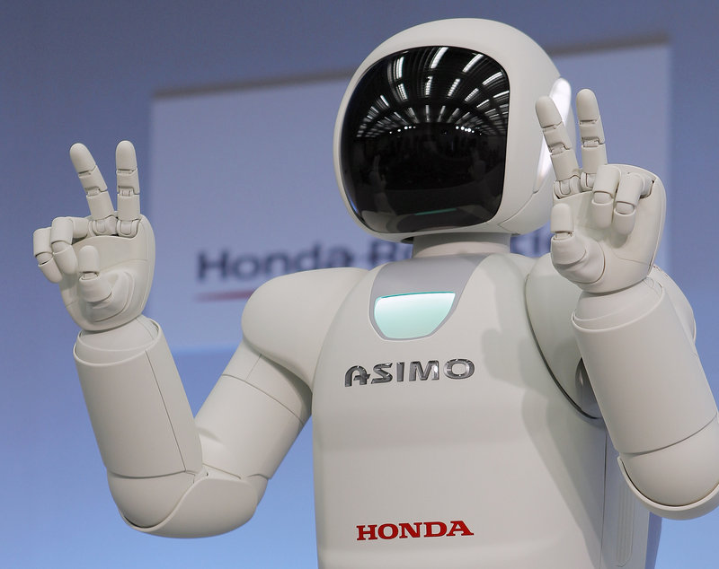 Honda has given Asimo the robot improved hands, allowing individual movement of each finger.