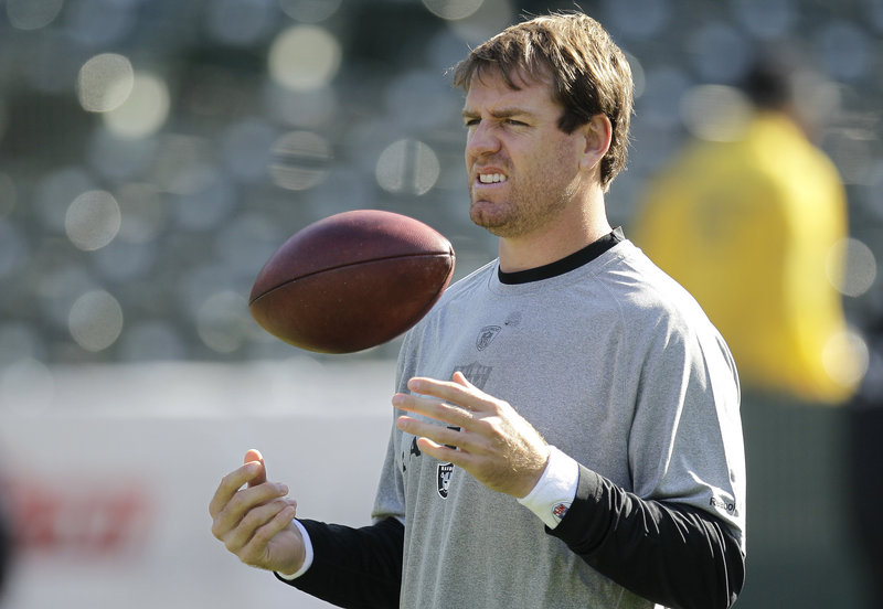 Carson Palmer will be searching for more consistency Thursday night at San Diego in his second start at quarterback for the Oakland Raiders.