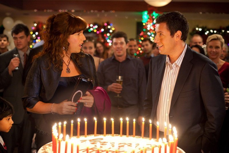 "Adam Sandler plays both Jill and her twin brother Jack in ""Jack and Jill."""