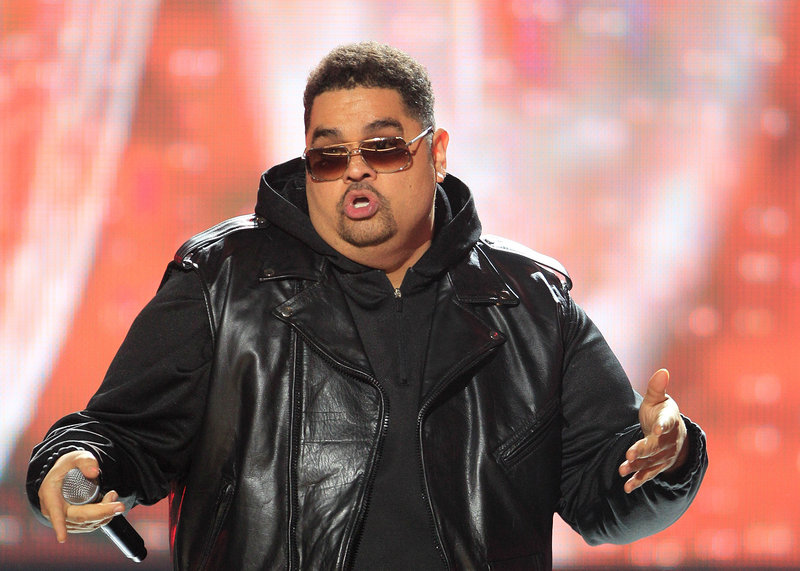 Rapper Heavy D, also known as Dwight Arrington Myers, performs during the BET Hip Hop Awards in Atlanta in this photo taken in October.
