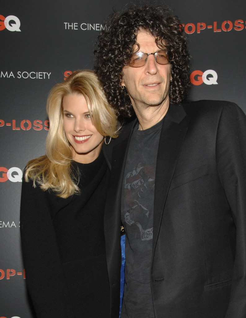 Radio host Howard Stern, shown with his wife, Beth Ostrosky, is said to be in negotiations to replace Piers Morgan on