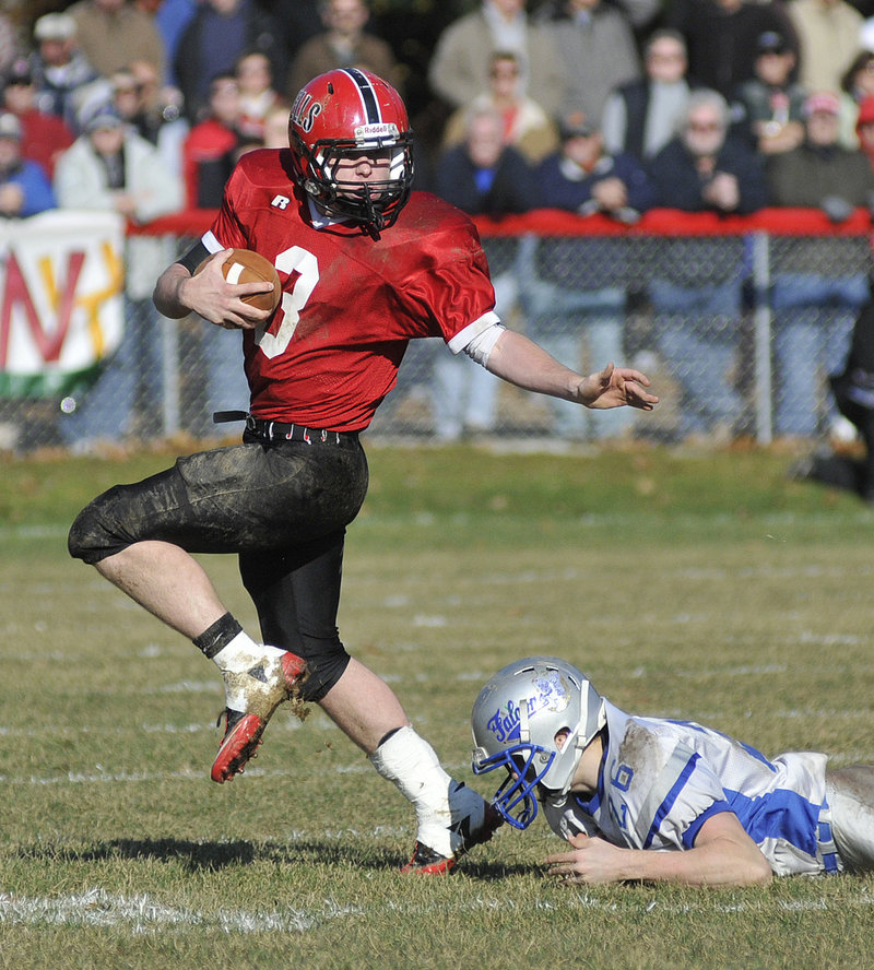 Senior quarterback Paul McDonough has averaged more than 20 yards per completion this season while leading Wells to the Class B state championship game.