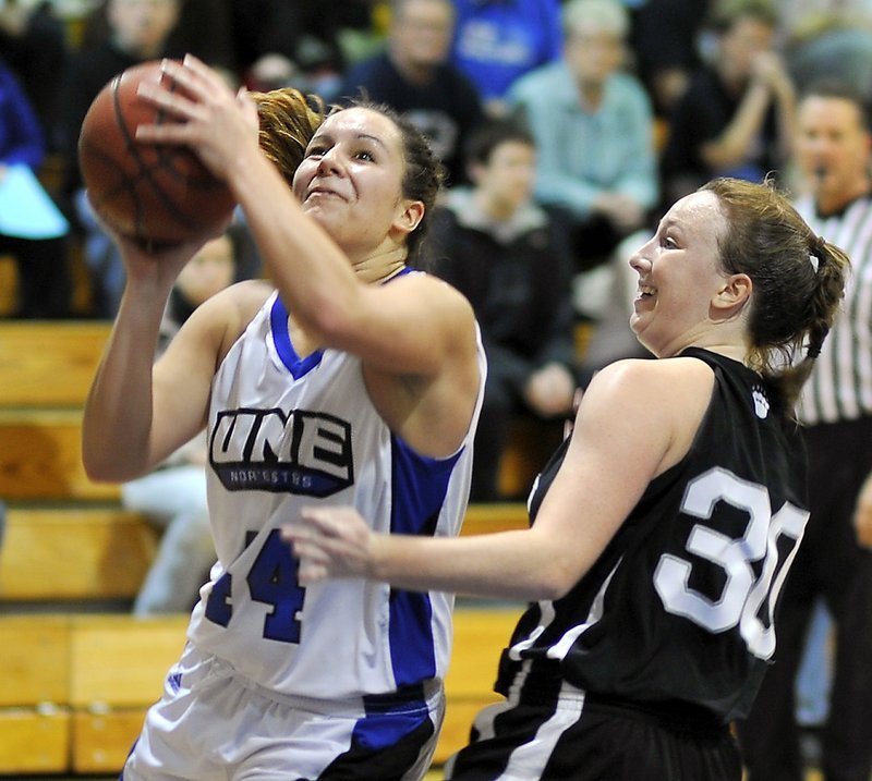 Beth Suggs was the leading rebounder last season for the University of New England, which should contend for an NCAA tournament berth after winning the ECAC tournament in 2011.