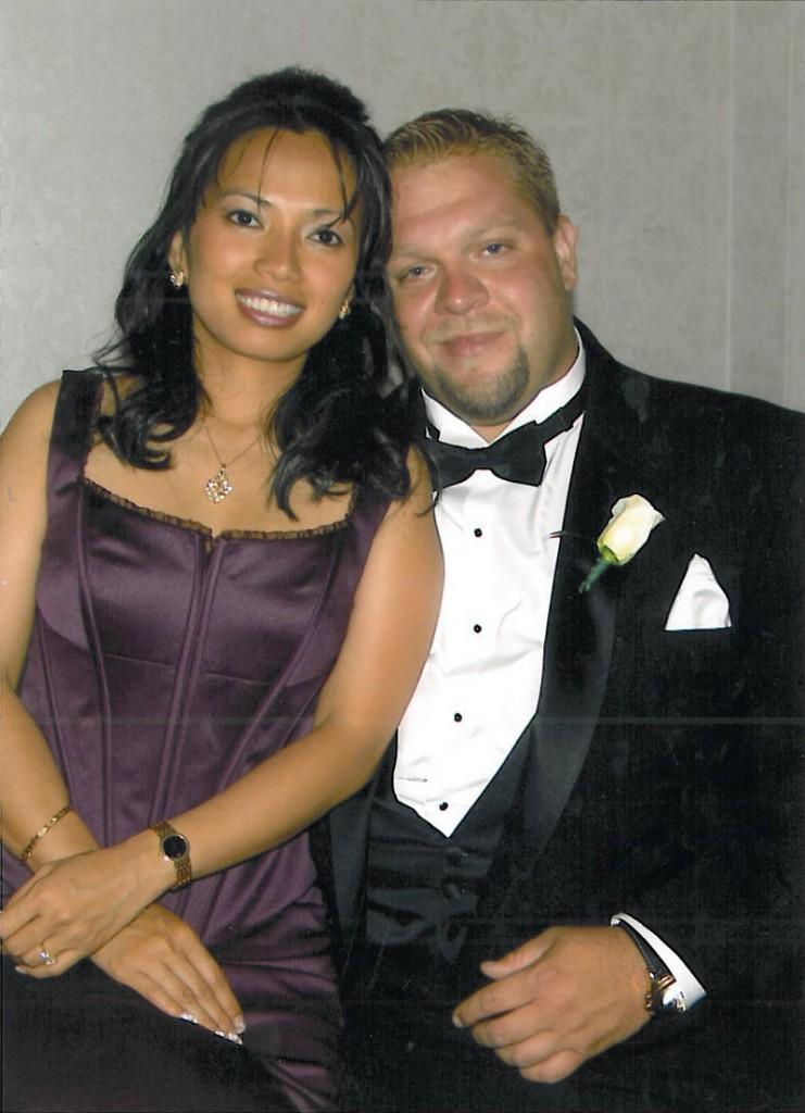 Jason Whitaker and his wife, Christina, are pictured in 2005.