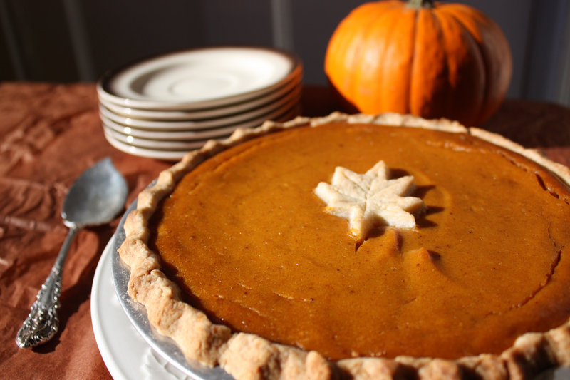 Vegan Pumpkin Pie is made with silken tofu and goes into a crust made with coconut oil.
