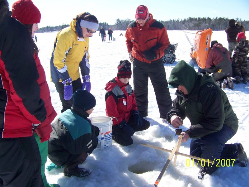 Connecting Maine youth to the outdoors, including ice fishing, will become one of the priorities for SAM under its new executive director, David Trahan.