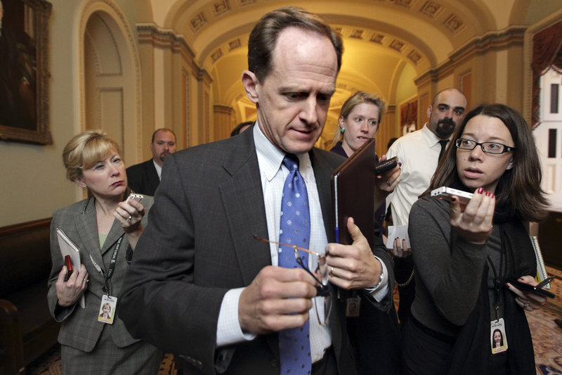 Sen. Pat Toomey, R-Pa., heads to a meeting with other GOP members of the supercommittee Thursday in Washington. His plan calls for limiting tax breaks from itemizing deductions on tax returns, which could affect 50 million taxpayers.