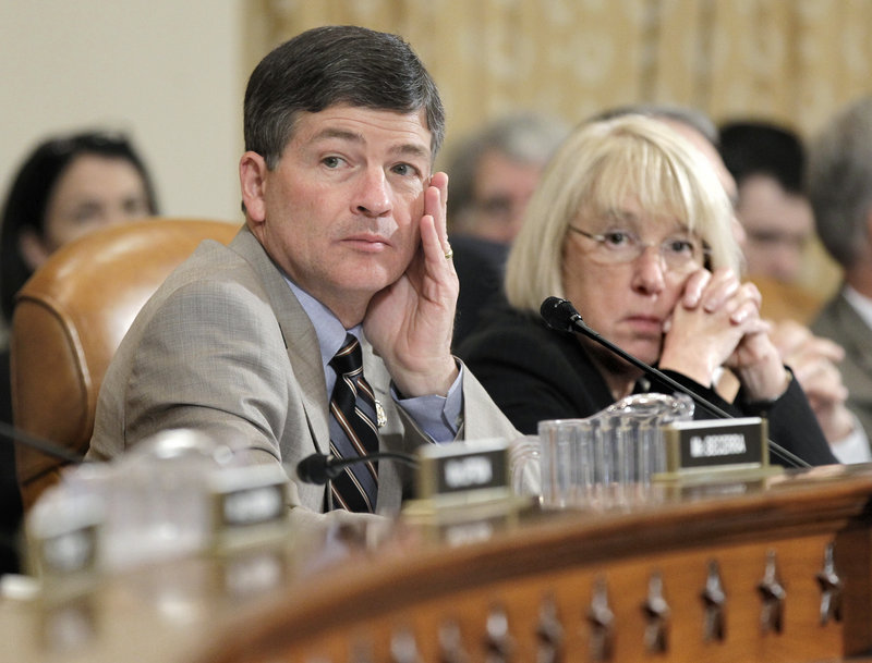 Aides say that the congressional supercommittee on debt reduction, co-chaired by Rep. Jeb Hensarling, R-Texas, left, and Sen. Patty Murray, D-Wash., right, needs a breakthrough by Monday night on a proposal to tame the federal debt in order to get an official audit before Wednesday's deadline for approving the plan.