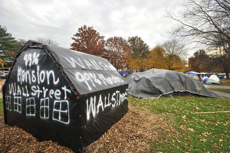 One reader wonders why the city of Portland is directing its efforts toward ensuring the health and safety of residents of the Occupy Maine encampment this winter.