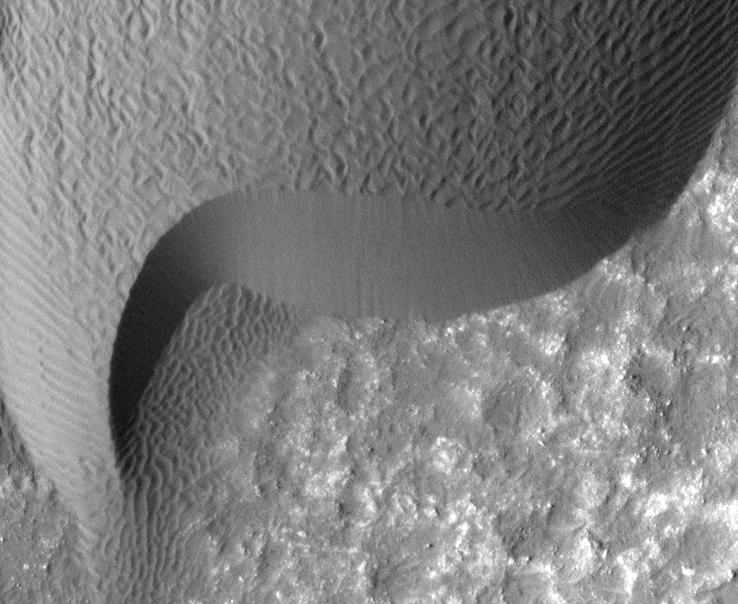 An image of a rippled dune in the Herschel Crater on Mars was taken on a previous NASA mission. The Mars Science Laboratory mission, launching as early as Friday, will be NASA's seventh exploration of the planet. No other country has landed a working craft on Mars.