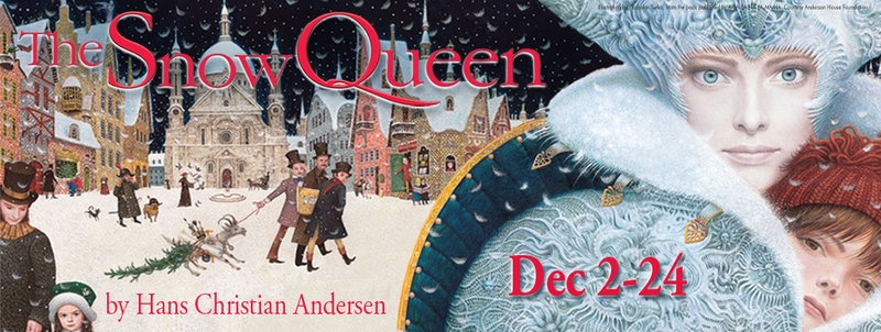 """Portland Stage's poster for its production of """"The Snow Queen"""""""