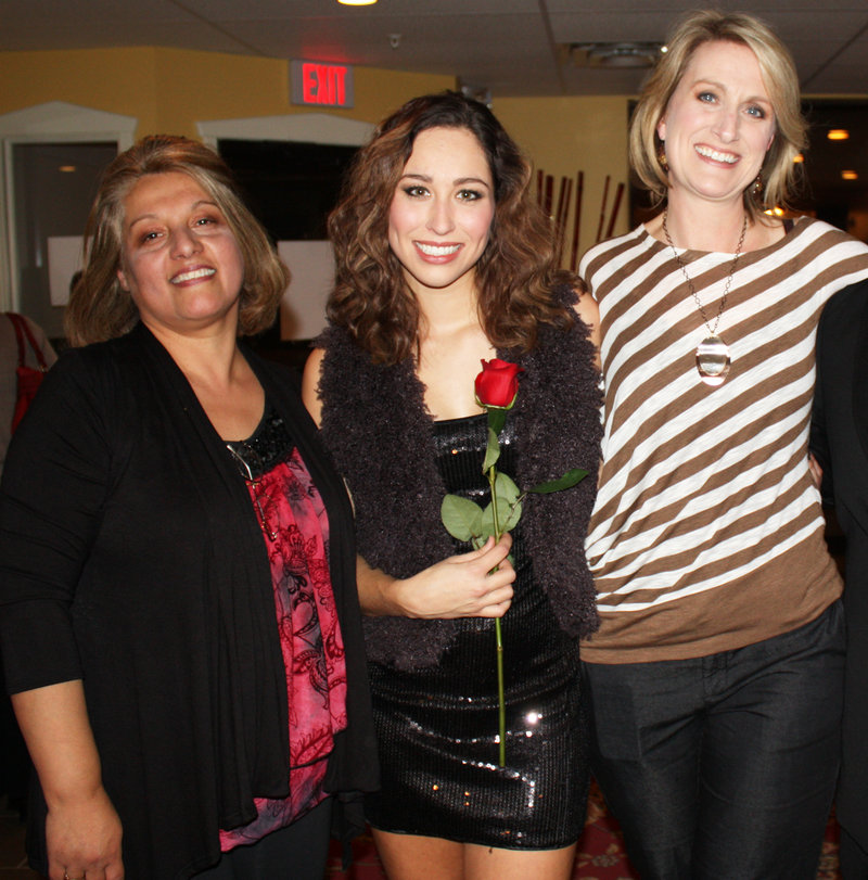Carolina Tanguay of Fashionable Giving, model Bethany Latulippe and Linda Bickford of Fashionable Giving.