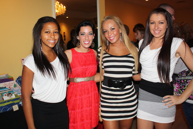 Kristina Manners of Ogunquit, Shyanne Bellavance of Dresden, Nathalie Manners of Ogunquit and Krista Cahill of Wells.