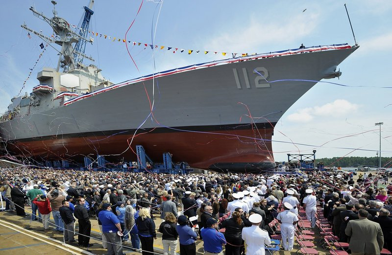 The Portsmouth Naval Shipyard in Kittery is considered more vulnerable to cuts than Bath Iron Works.