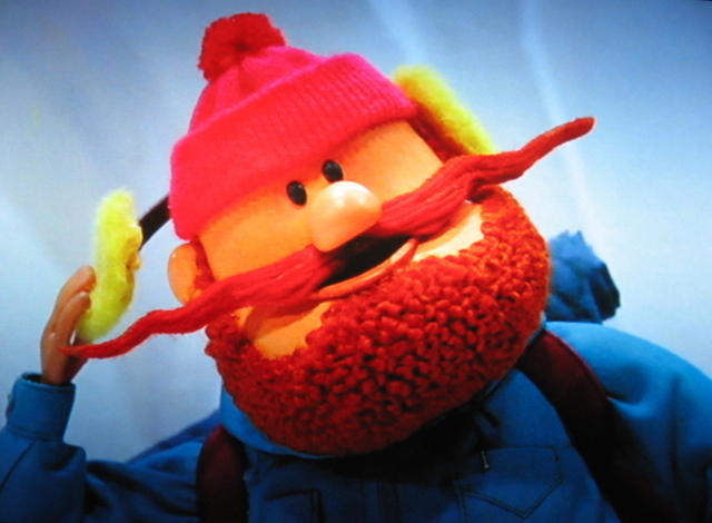 """Even among misfits, you're misfits."" – YUKON CORNELIUS to Rudolph and Hermey when they're denied residence on the Island of Misfit Toys, in ""Rudolph the Red-Nosed Reindeer."""