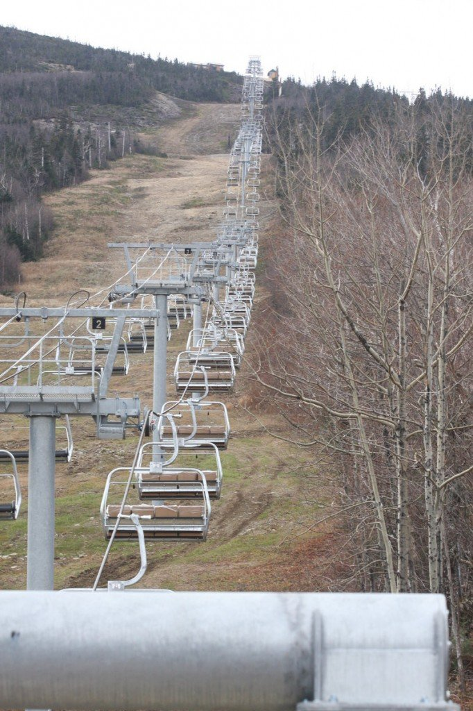 The new Skyline lift at Sugarloaf replaces the Spillway, which fell last winter.