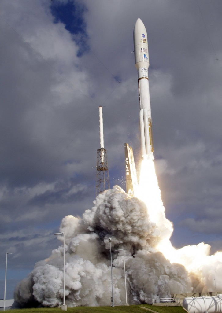 A United Launch Alliance Atlas V rocket carrying Curiosity, NASA's Mars Science Laboratory rover, lifts off at Cape Canaveral Air Force Station in Cape Canaveral, Fla., on Saturday.