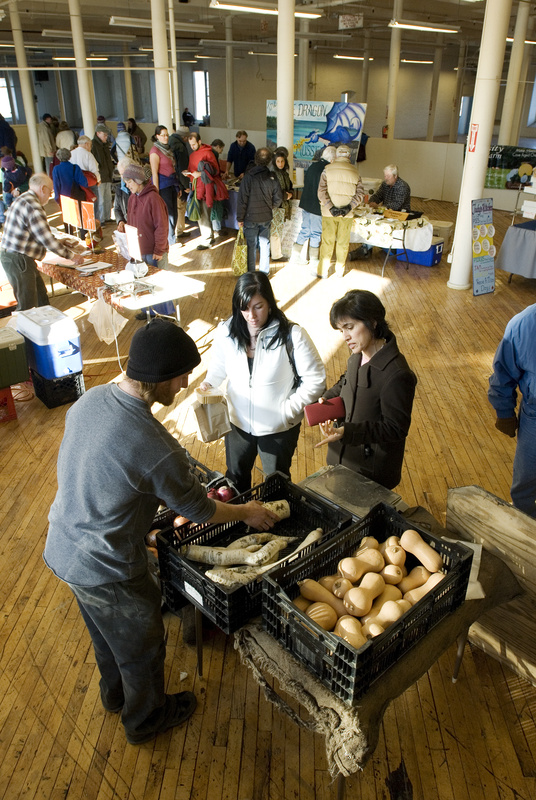 At the Brunswick Winter Market in the Fort Andross mill, there are more than 56 vendors selling artisans' crafts as well as farm-grown produce. The market attracts about 1,000 shoppers each Saturday. With new winter markets in South Portland and Saco, Maine now has more than 20 indoor venues.