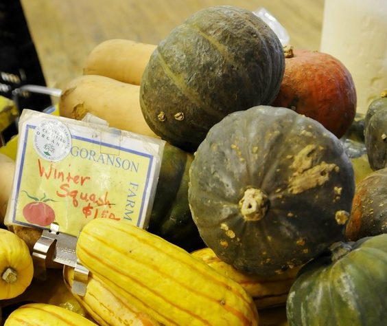 Winter squash is among the items to be found at winter farmers' markets.