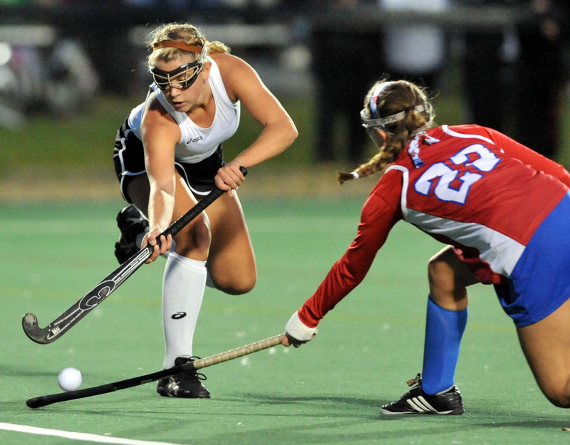 Nicole Sevey followed her sister, who left Skowhegan as the school's field hockey career scoring leader, then blazed her own path as a star on a state championship team.