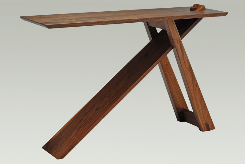 Wedge table by Eban Blaney